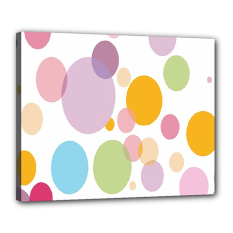 Bubble Water Yellow Blue Green Orange Pink Circle Canvas 20  X 16