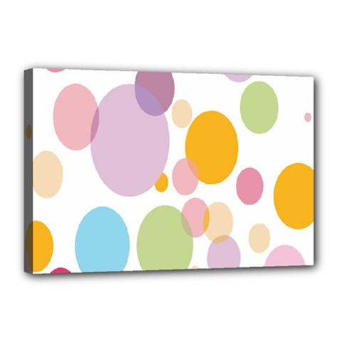 Bubble Water Yellow Blue Green Orange Pink Circle Canvas 18  X 12  by Jojostore
