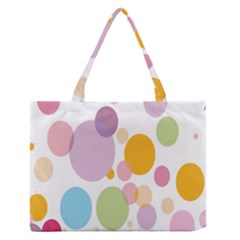 Bubble Water Yellow Blue Green Orange Pink Circle Medium Zipper Tote Bag by Jojostore