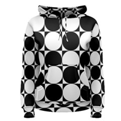 Circles Black White Women s Pullover Hoodie