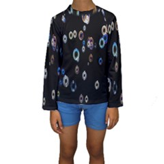 Bubble Light Black Kids  Long Sleeve Swimwear