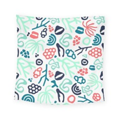 Coral Leaf Flower Sea Square Tapestry (small)
