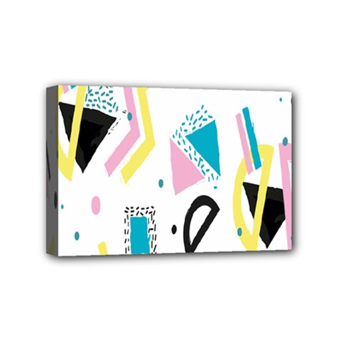 Design Elements Illustrator Elements Vasare Creative Scribble Blobs Yellow Pink Blue Mini Canvas 6  X 4  by Jojostore