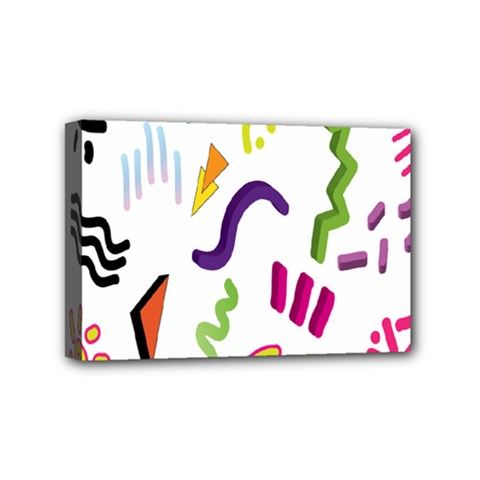 Design Elements Illustrator Elements Vasare Creative Scribble Blobs Mini Canvas 6  X 4  by Jojostore