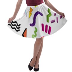 Design Elements Illustrator Elements Vasare Creative Scribble Blobs A Line Skater Skirt