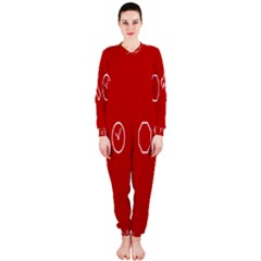 Hour Hammer Plaid Red Sign Onepiece Jumpsuit (ladies)