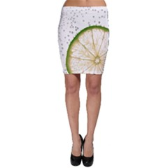 Lime Bodycon Skirt by Jojostore