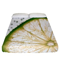 Lime Fitted Sheet (queen Size)