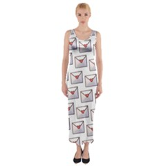 Love Note Custom Letter Heart Valentine Fitted Maxi Dress
