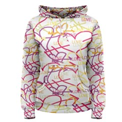 Love Heart Valentine Rainbow Color Purple Pink Yellow Green Women s Pullover Hoodie