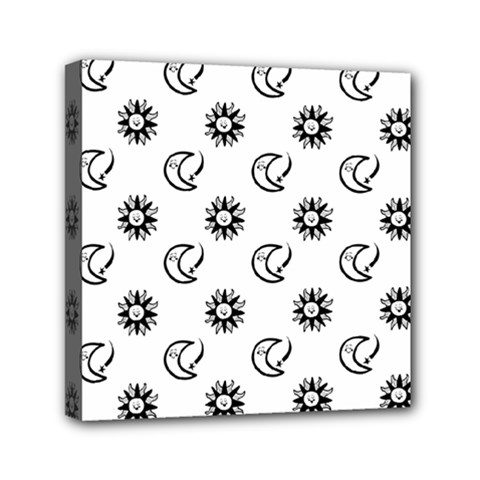 Month Moon Sun Star Mini Canvas 6  X 6  by Jojostore