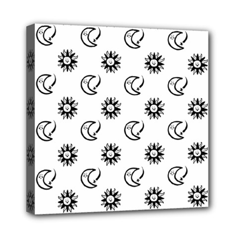 Month Moon Sun Star Mini Canvas 8  X 8  by Jojostore