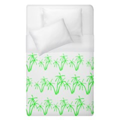 Palm Tree Coconute Green Sea Duvet Cover (single Size) by Jojostore