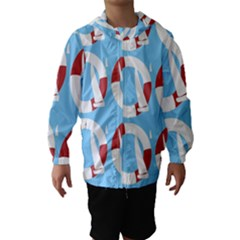 Sail Summer Buoy Boath Sea Water Hooded Wind Breaker (kids)