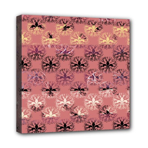 Overlays Pink Flower Floral Mini Canvas 8  X 8  by Jojostore
