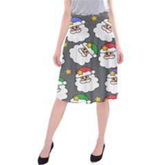 Santa Claus Face Mask Crismast Midi Beach Skirt