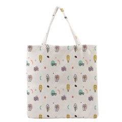Slippers Lamp Glasses Ice Cream Grey Wave Water Grocery Tote Bag