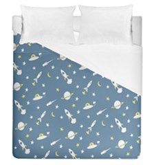 Space Saturn Star Moon Rocket Planet Meteor Duvet Cover (queen Size)
