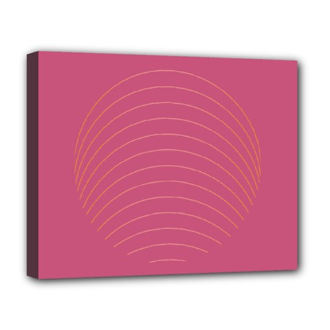 Tumblr Static Pink Wave Fingerprint Deluxe Canvas 20  X 16   by Jojostore