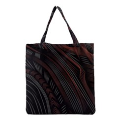 Trailer Drax Line Brown White Chevron Galaxy Space Grocery Tote Bag