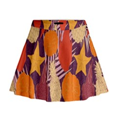 Tropical Mangis Pineapple Fruit Tailings Mini Flare Skirt