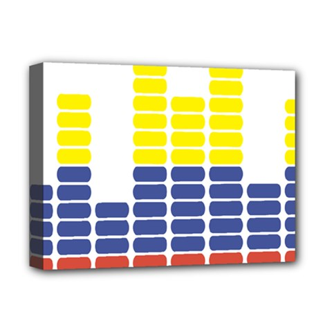 Volumbia Olume Circle Yellow Blue Red Deluxe Canvas 16  X 12   by Jojostore