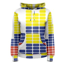 Volumbia Olume Circle Yellow Blue Red Women s Pullover Hoodie