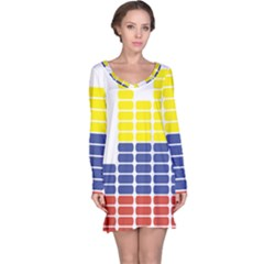 Volumbia Olume Circle Yellow Blue Red Long Sleeve Nightdress
