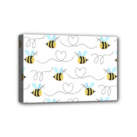 Wasp Bee Fly Yellow Black Blue Hanny Love Mini Canvas 6  X 4  by Jojostore
