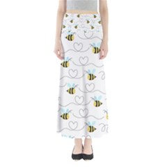 Wasp Bee Fly Yellow Black Blue Hanny Love Maxi Skirts