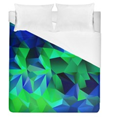 Galaxy Chevron Wave Woven Fabric Color Blu Green Triangle Duvet Cover (queen Size)