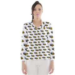 Wasp Bee Eye Fly Line Animals Wind Breaker (women)