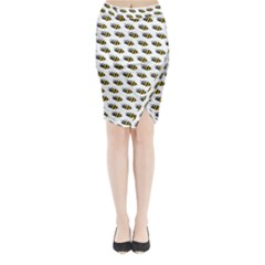 Wasp Bee Eye Fly Line Animals Midi Wrap Pencil Skirt