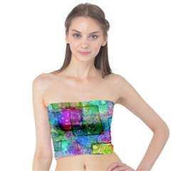 Rainbow Floral Doodle Tube Top by KirstenStar