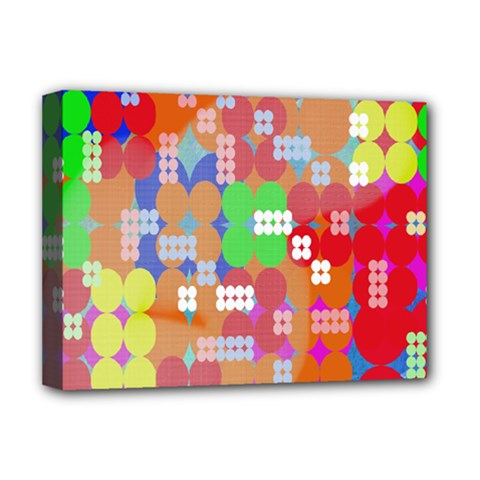 Abstract Polka Dot Pattern Deluxe Canvas 16  X 12   by Nexatart