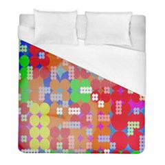 Abstract Polka Dot Pattern Duvet Cover (full/ Double Size) by Nexatart