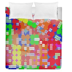 Abstract Polka Dot Pattern Duvet Cover Double Side (queen Size)