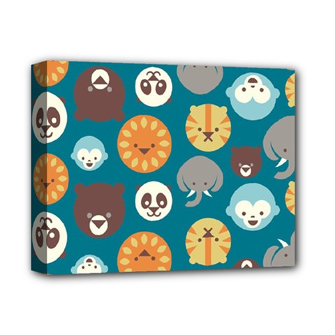 Animal Pattern Deluxe Canvas 14  X 11  by Nexatart