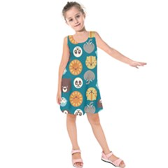 Animal Pattern Kids  Sleeveless Dress by Nexatart