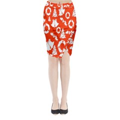 Backdrop Background Card Christmas Midi Wrap Pencil Skirt