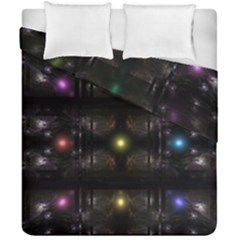 Abstract Sphere Box Space Hyper Duvet Cover Double Side (california King Size) by Nexatart