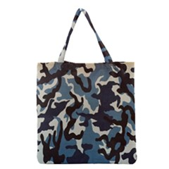 Blue Water Camouflage Grocery Tote Bag by Nexatart
