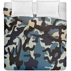 Blue Water Camouflage Duvet Cover Double Side (king Size) by Nexatart