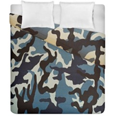 Blue Water Camouflage Duvet Cover Double Side (california King Size) by Nexatart