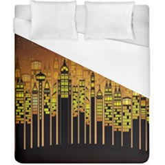 Buildings Skyscrapers City Duvet Cover (california King Size)