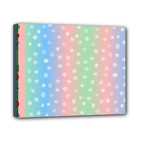 Christmas Happy Holidays Snowflakes Canvas 10  X 8  by Nexatart