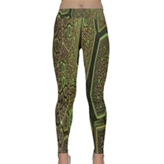Fractal Complexity 3d Dimensional Classic Yoga Leggings by Nexatart