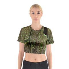 Fractal Complexity 3d Dimensional Cotton Crop Top