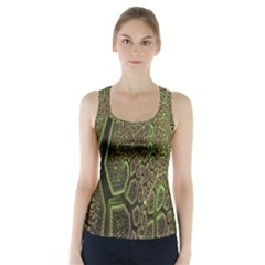 Fractal Complexity 3d Dimensional Racer Back Sports Top by Nexatart