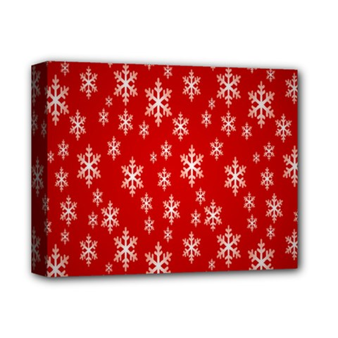 Christmas Snow Flake Pattern Deluxe Canvas 14  X 11